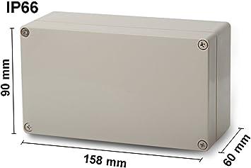Leergeh/äuse Abzweigdose Geh/äuse Stromverteiler BAU IP66 243x190x155 Wandverteiler M-L 0332