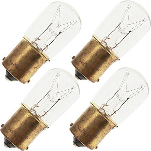 Industrial Performance 10S6/SC 120V, 10 Watt, S6, Bayonet (BA15S) Base Light Bulb (4 Bulbs) Ba15s Sc Bayonet Base