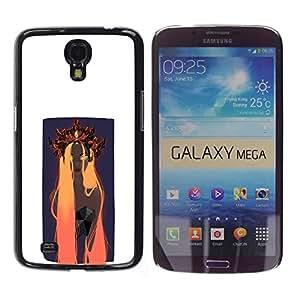 EJOY---Cubierta de la caja de protección la piel dura para el ** Samsung Galaxy Mega 6.3 ** --Naranja Woamn Cabello