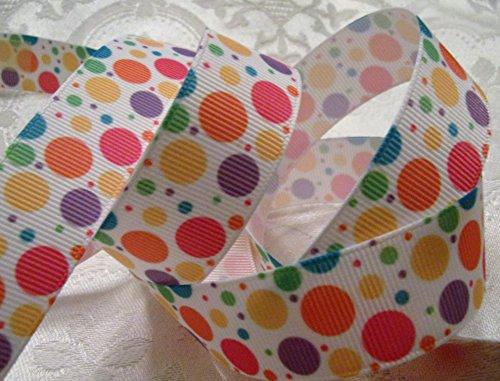 (Grosgrain Ribbon - *Springtime Bubble Dot Print* - 7/8