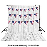 Allenjoy 5x7ft photography backdrops white wood wooden floor Patriotic American Flag 4th of July independence Day Veterans Day banner photo studio booth newborn baby shower background photocall