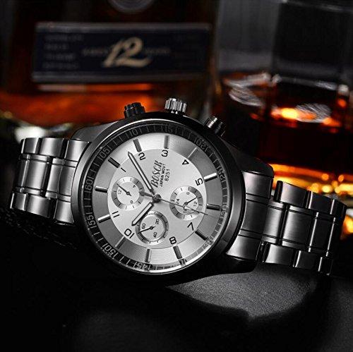 Genießen Armbanduhren Automatik Chronograph Uhr Edelstahl Uhrarmband Business Watch Quartz (2) (1)
