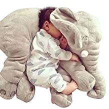 YESURPRISE 60cm Baby Toddlers Stuffed Soft Elephant Plush Sleeping Pillows Pre-Kindergarten Nursery Toys Cushion