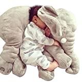 YESURPRISE 60cm Baby Toddlers Stuffed Soft Elephant Plush Sleeping Pillows Pre-Kindergarten Nursery Toys Cushion