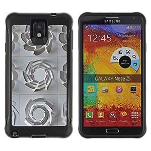 Suave Caso Carcasa de Caucho Funda para Samsung Note 3 3D Pattern Art White Clean Plastic / JUSTGO PHONE PROTECTOR