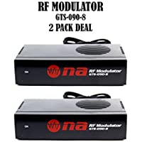 2 pack Universal RF Modulator RCA Audio Video to Coaxial Coax F With S Video