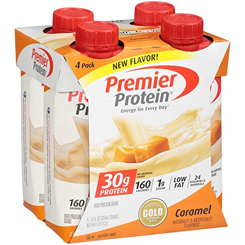 Premier Protein 30g Protein Shakes, Caramel, 11 Fluid Ounces, 4 Count