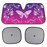Best Shades Of Purples - Pink Purple Swirl Butterfly Windshield Sun Shade Review