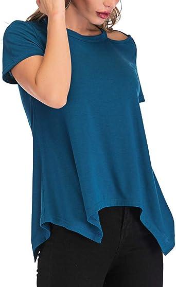 Costura Color de ContrasteTops Plateados Ronamick Comfort Camisetas Mujer Manga Corta Originales Blusa Mujer Comfort Camisa Hombre Blanca(Azul,L): Amazon.es: Bricolaje y herramientas