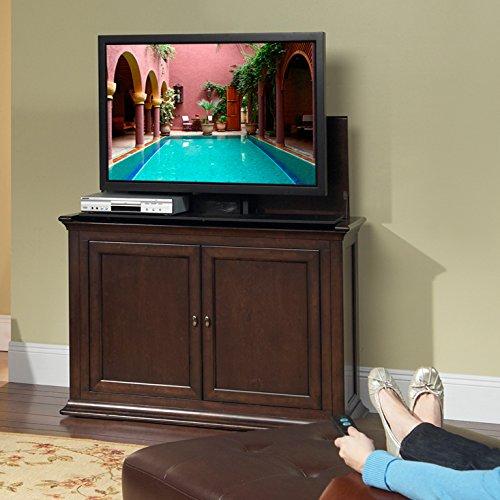 amazoncom touchstone harrison motorized tv lift cabinet 35 inch tall fits up to 50 inch flat screen tvs espresso kitchen u0026 dining