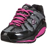 Skechers Women's Shape Ups Kinetix Response Fashion Sneaker,Black/Hot Pink,8 M US