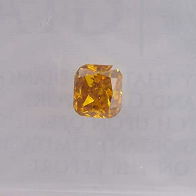 23b10ef2d5 Image Unavailable. Image not available for. Color: 0.41 Carat Fancy Deep  Yellow Orange Loose Diamond Natural ...