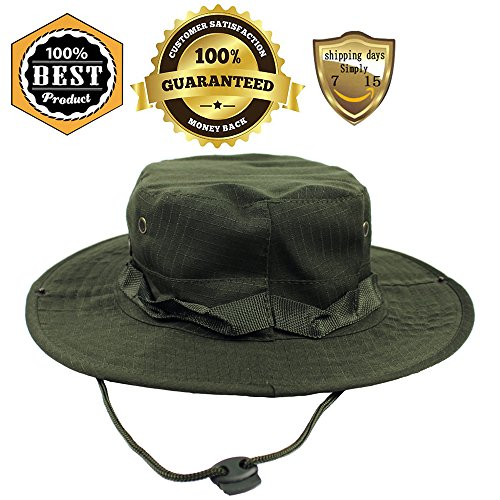 MeanHoo Camouflage Fishing Snap Brim Military hat Wide Brim Bucket Outdoor Boonie Hat