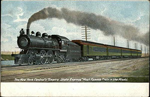 Central Empire State Express - New York Central's Empire State Express Locomotives Original Vintage Postcard