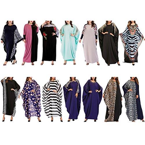Blu Donne Zhuhaitf E Caftano Eleganti Caftani Nero Le Vestito Per Islamici Abaya Stile Oversize Abbigliamento Moda Boho Turco Lunghi UxPUWwTqr