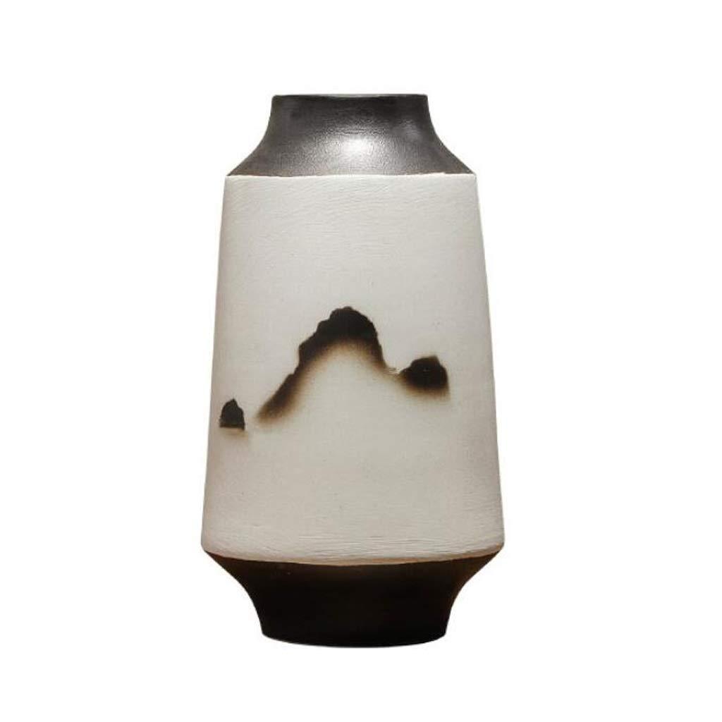 陶磁器の花瓶の家のマットの艶をかけられた装飾的な花瓶は生け花および緑の植物に使用することができます JSFQ (サイズ さいず : 8×27×15cm) B07QGLSPPP  8×27×15cm