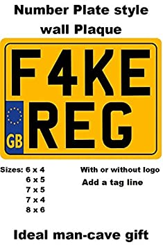 REAR NUMBER PLATE for Motorcycle SHOW PLATES not road legal with or with out border /& free bottom line text choice of sizes 9 x 3 // 8 x 6 // 7 x 4 // 7 x 5 // 6 x 5 // 6 x 4 also custom sizes 6 x 4
