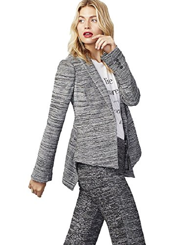 Tweed Womens Blazer (Rachel Rachel Roy Womens Tweed Marled One-Button Blazer Gray 0)