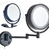 Best Wall Mirror With Bronzes - Cavoli Makeup Mirror with LED Lighted Wall Mounted Review