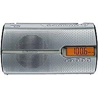 Grundig MUSIC BOY 51 Radio portable PLL / 10 Stations Piles ou secteur Fonctions minuterie Argent