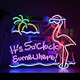 Flamingo Vintage Beer Bar Pub Shop Canteen Decor Neon Sign Light Lamp 16''x13'' (Flamingo)
