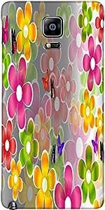 Snoogg Margaritas Multicolores Y Mariposas Cubra Caso De Protección 2662 Del ...