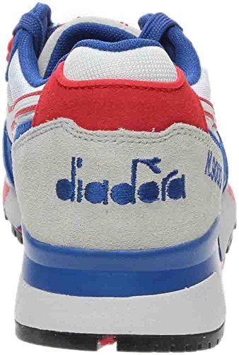 Diadora N9000 Männer runde Zehe synthetische blaue Turnschuhe Wahres Blau / Poppy Red