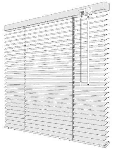 EFIXS Alu-Jalousie - Farbe: weiss - Höhe: 130cm - Breite im Angebot wählbar - hier: 45 x 130 cm (Breite x Höhe) - Aluminium-Jalousie
