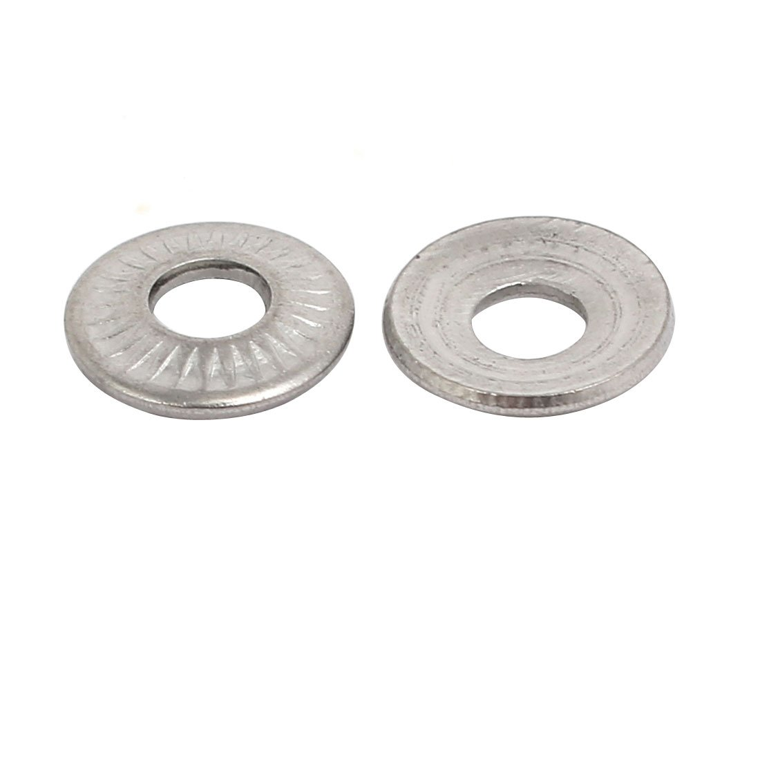 uxcell M3 Inner Diameter 304 Stainless Steel Serrated Conical Spring Washer 20pcs