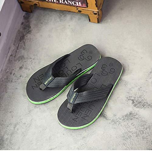 Tamaño Casual Personalidad Salvaje Primavera Lixizhong Suelo Británico Para De color Zapatillas 42 Versión Negro Hombre Tendencia Chanclas Viento Green aqqwf5vx8