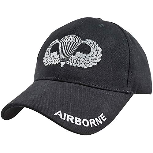 Medals of America Airborne Jump Wings Badge Black Hat One Size
