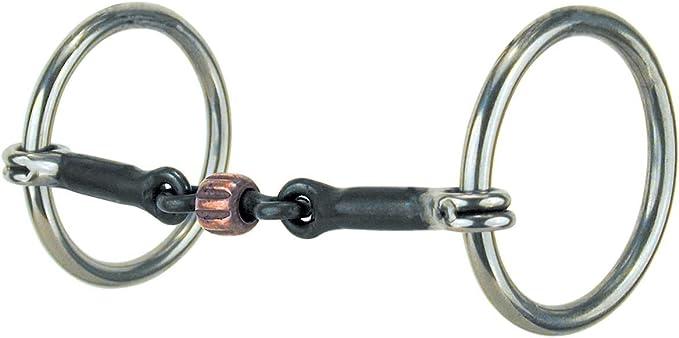 Wide Port Mouth Roller link 1597SS Loose ring Snaffle Horse Bit Gen-3