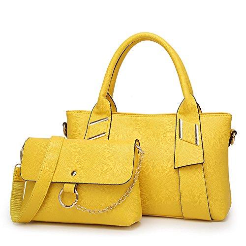 Simple Todos European Ladies Match Bolso Moda Meaeo Bangalor Claret Bolso Nuevo Solo yellow Bolso Iwxqz6UH