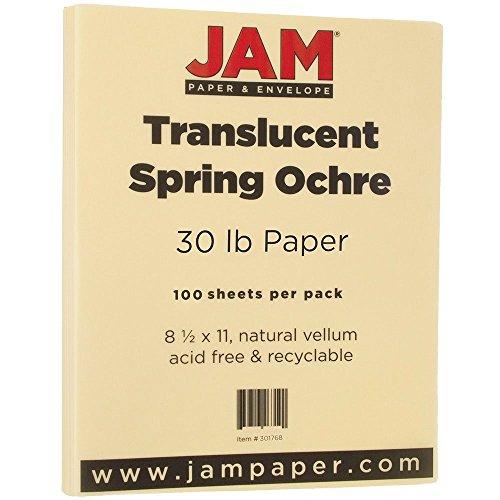 JAM Paper Translucent Vellum Paper - 8.5