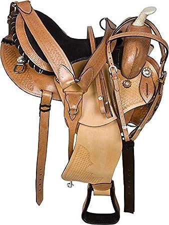 Wonder Wish Premium Western Barrel Racing Horse Trail - Silla de Montar