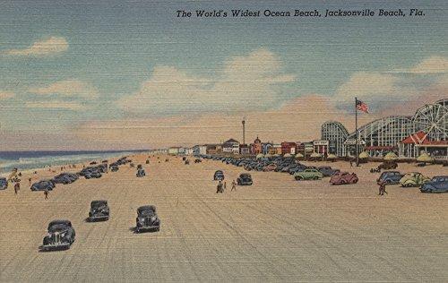 Jacksonville Beach, FL - The world's Widest Ocean Beach (12x18 Fine Art Print, Home Wall Decor Artwork Poster) (Jacksonville Fl Home Decor)