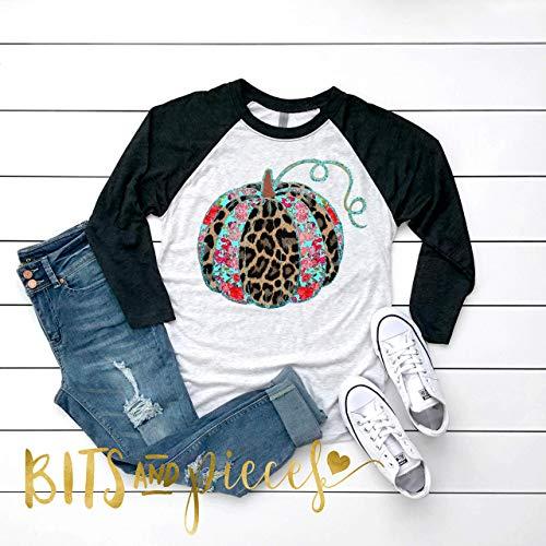 Cheetah Floral Print Pumpkin Shirt | Thanksgiving Shirt | Thanksgiving Fall Shirt for Women | Fall Shirt | Pumpkin Shirt | Fall Tee |