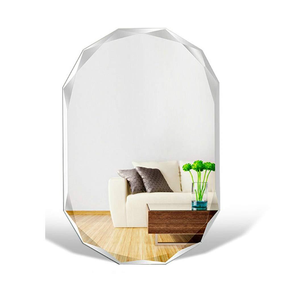 Bloomy Home W Rahmenlose Badezimmerspiegel Indoor Schlafzimmer Wohnzimmer Dekoration Spiegel Wandbehang 50x70 cm (größe : 40x50cm)