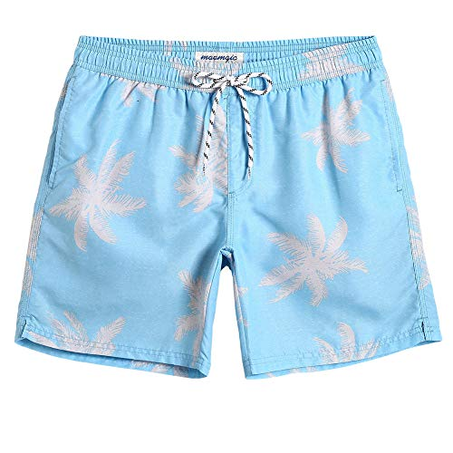 72c38e0845f ... MaaMgic Mens Palm Tree Swim Trunks Bathing Suits Board Shorts Swimming  Shorts