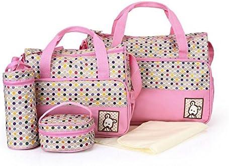 Babyhugs - Juego de bolsa de maternidad, 5 piezas, para cambio de pañal y hospital rosa Puntos rosados