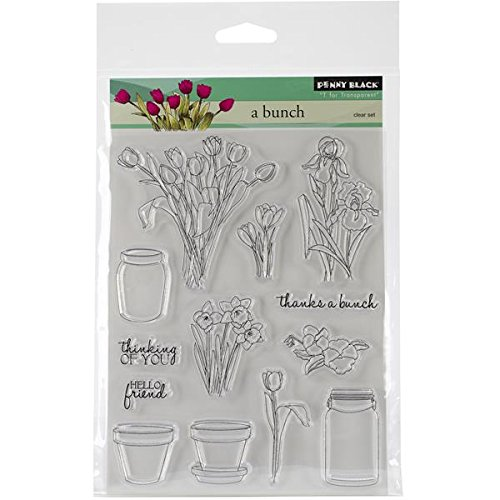 Penny Black Decorative Rubber Stamps, A Bunch (30-174) Penny Black Inc.