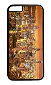 MOKSHOP Adorable chicago night city view Hard Case Protective Shell Cell Phone Cover For Apple Iphone 6 (4.7 Inch) - PC Black
