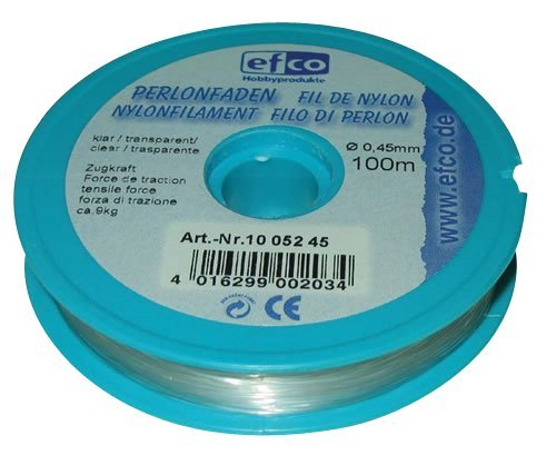 Price comparison product image Efco Tensile Force Thread,  Polyamide,  Clear,  2.7 kg,  0.25 mm Diameter,  100 m
