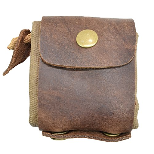 (Waxed Canvas Foraging Pouch (Collapsible) for Hiking Treasures/Seashells Handmade by Hide & Drink :: Fatigue)
