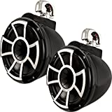 Wet Sounds Revolution Series 10 inch HLCD Wakeboard Tower Speakers - Black w/Swivel Clamp