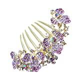 Wedding Fascinator Bridal Headpiece Rhinestone Hair Comb Women Girl Headdress