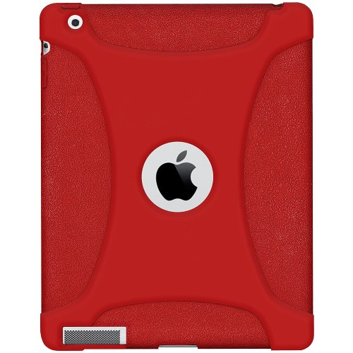 Amzer Silicone Skin Fit Jelly Case Cover for Apple iPad 2 - Tomato Red (AMZ93583)