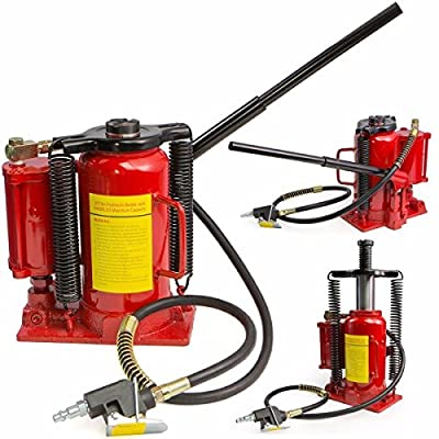 9TRADING Air Hydraulic Bottle Jack 20 Ton Manual 40000lb HEAVY DUTY Auto Truck RV Repair,Free Tax,Delivered within 10 days