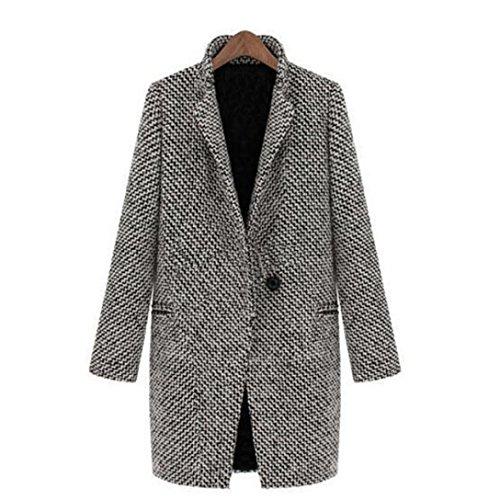 Knit Bed Jacket (HOT SALE, AIMTOPPY Women Slim Winter Warm Wool Lapel Long Coat Trench Parka Jacket Overcoat Outwear (Black, M))