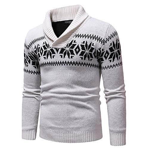 Chemise Fond Épaissir Tricots Joey Blanc Imprimé Hommes Mode Pull Revers De wg6wxOYpq